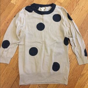 Polka dot j crew sweater size M